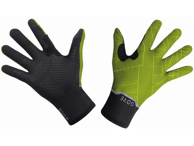 GORE WEAR Gore-Tex Infinium Gants Mid Gloves, black/neon yellow